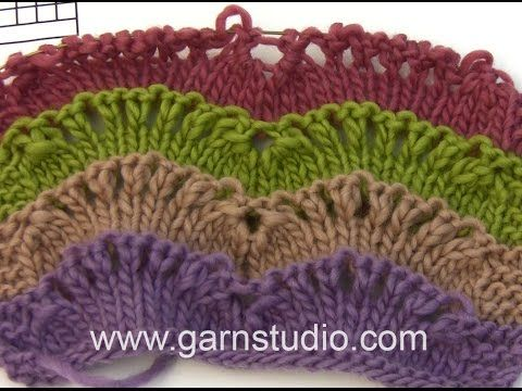 Drops Knitting Tutorial How To Work Wave Pattern Used In Drops 163