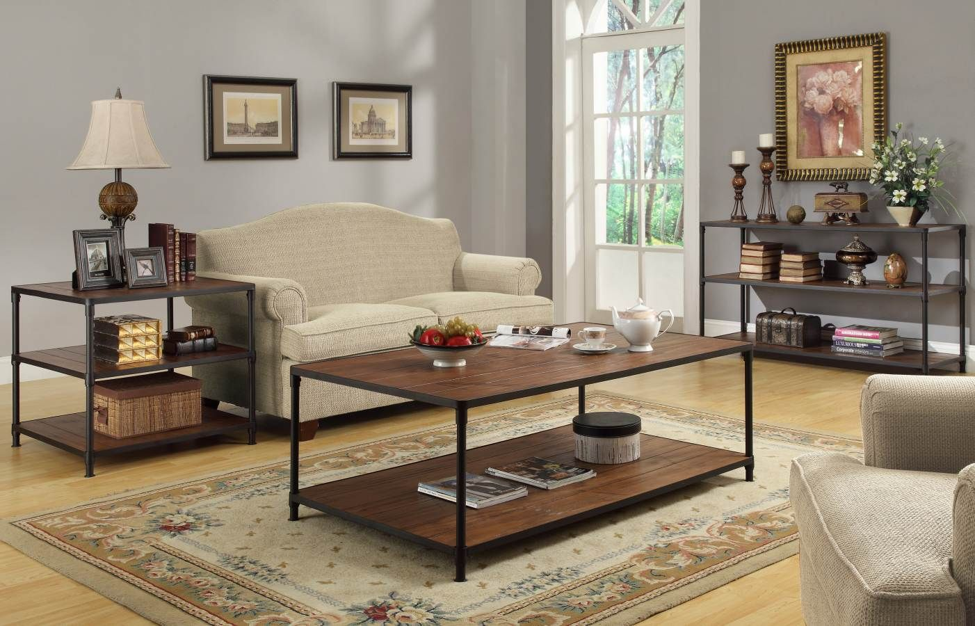 Mikah burnish oak end table home elegance pinterest metals and