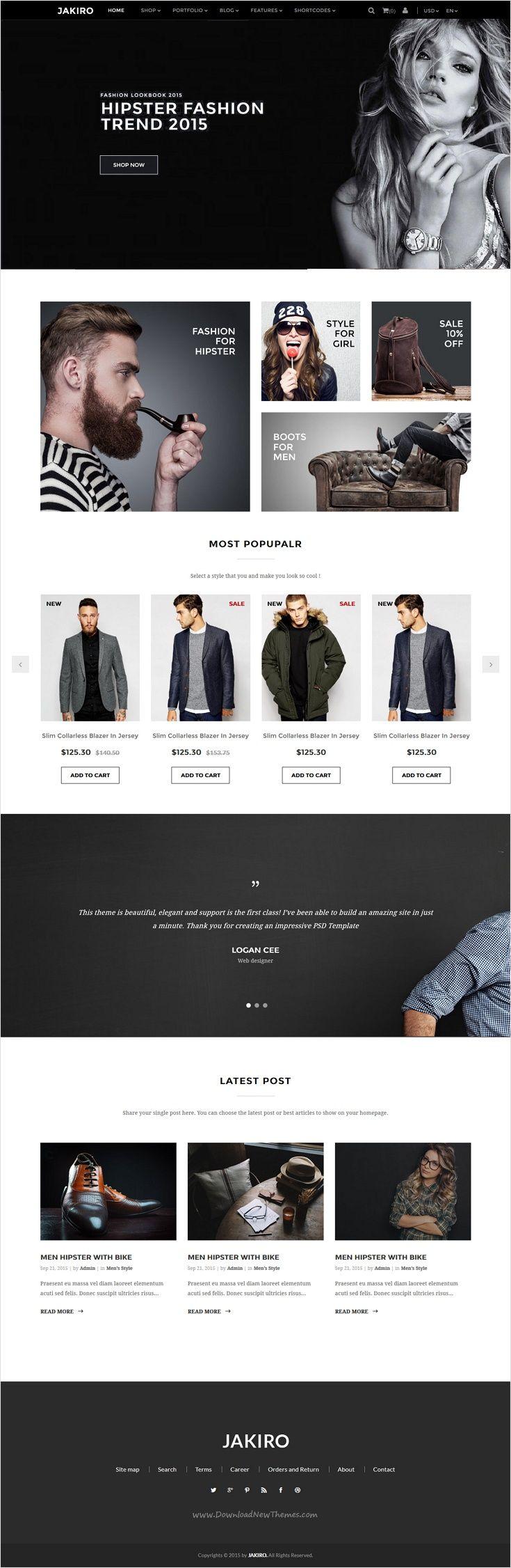 Jakiro - Multi Store Responsive HTML Template | eCommerce, Website ...