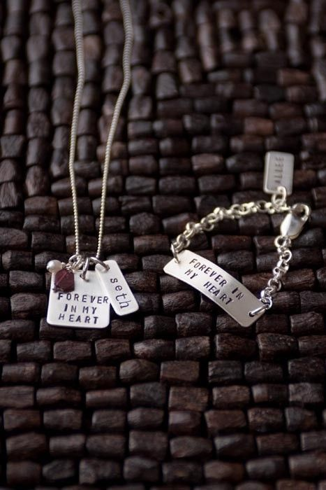 Adoption Gift From An Adoptive Mother Necklace Is For Birth And Bracelet Goes With Baby