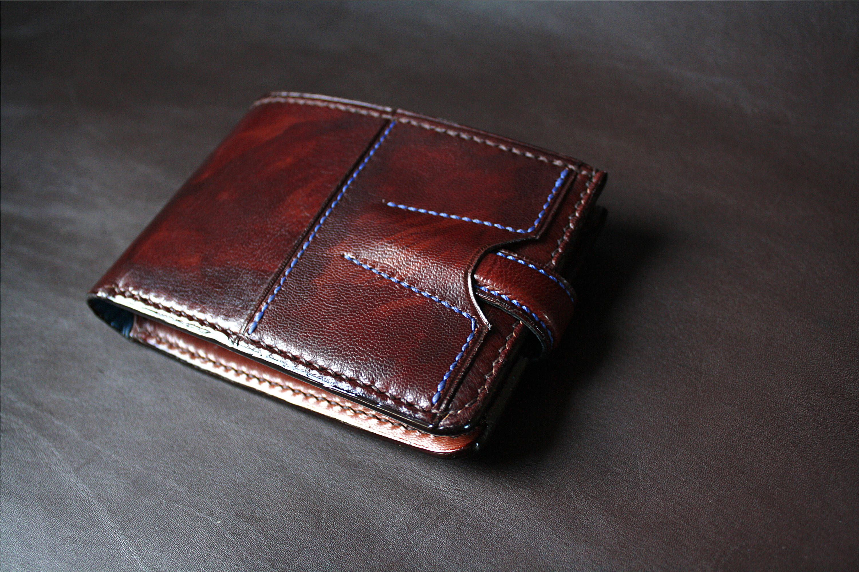 pinmark k on leather  leather card wallet men