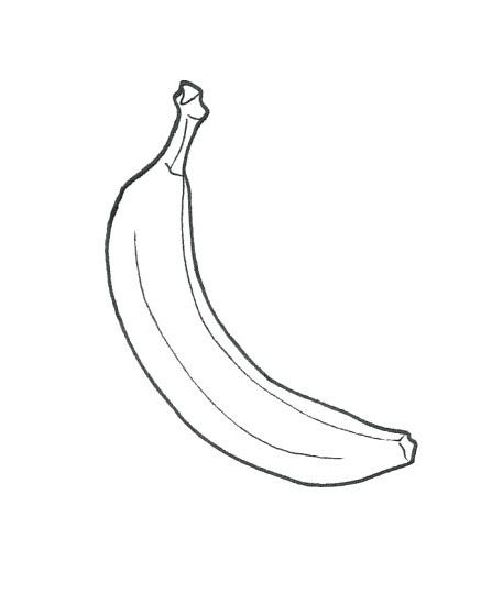 Printable Banana Coloring Page Kids Fruit Coloring Pages