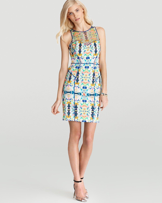 Milly Kaleidoscope Dress - Print Mesh Racer | Bloomingdale's