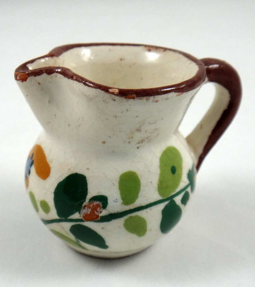 Vintage Miniature Italian Pottery Pitcher Handmade Vintage Miniatures Miniature Pottery Italian Pottery