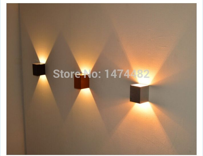 Hot Sale Modern Square Wall Light 3w 2pcs Luminaire LED Bedroom ...