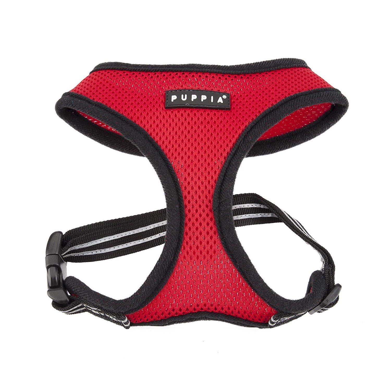 PUPPIA International Smart Soft Harness, Small, Red