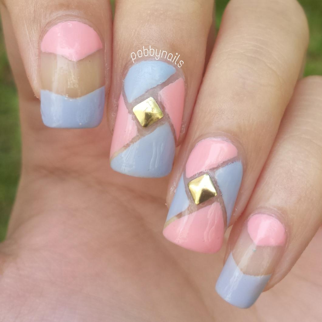 Negative Spaced + Pastel  http://instagram.com/pobbynails