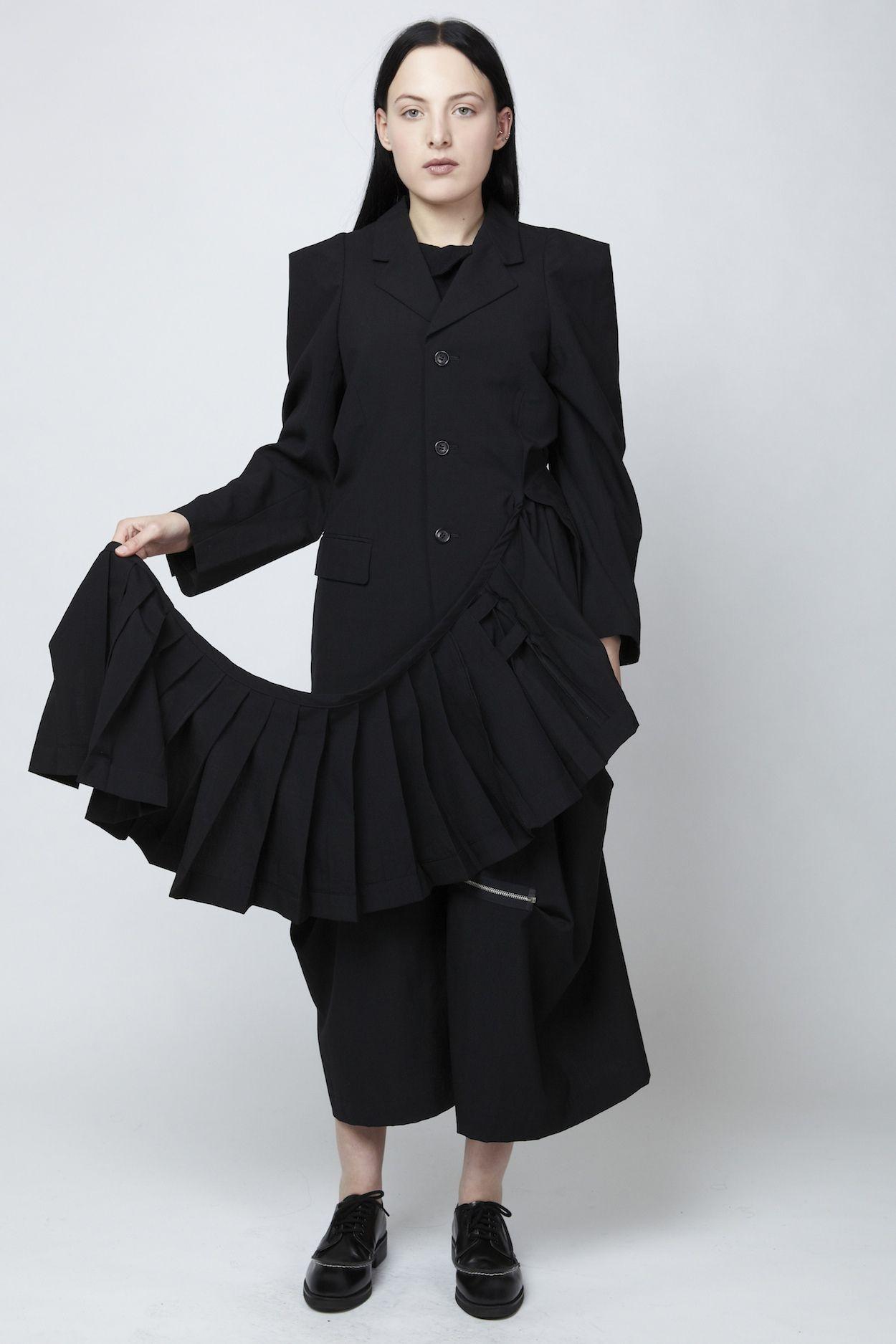 COMME des GARÇONS attached kilt blazer u dotCOMME Online store omg