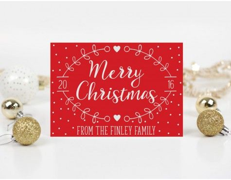Dotty Personalised Christmas Card