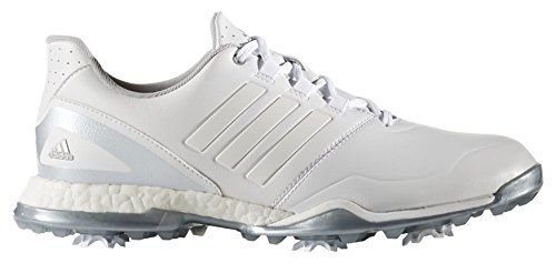 adidas W adipower Boost Boa Golf Schuhe, Damen 36 Weiß/silberfarben