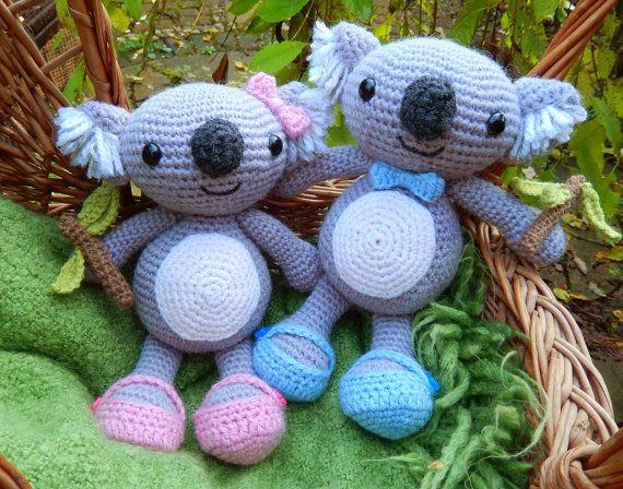 Karl & Karla Koala, Amigurumi Crochet Pattern | Häkeltiere ...
