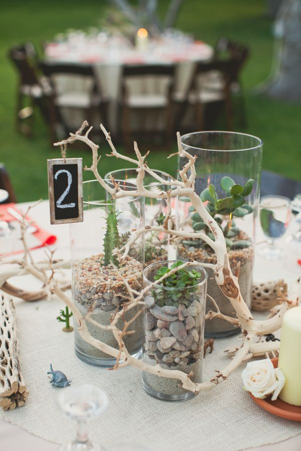 Desert inspired centerpieces photo by eplove wedding beach wedding table number ideas 6 uniquely yours wedding invitation solutioingenieria Gallery
