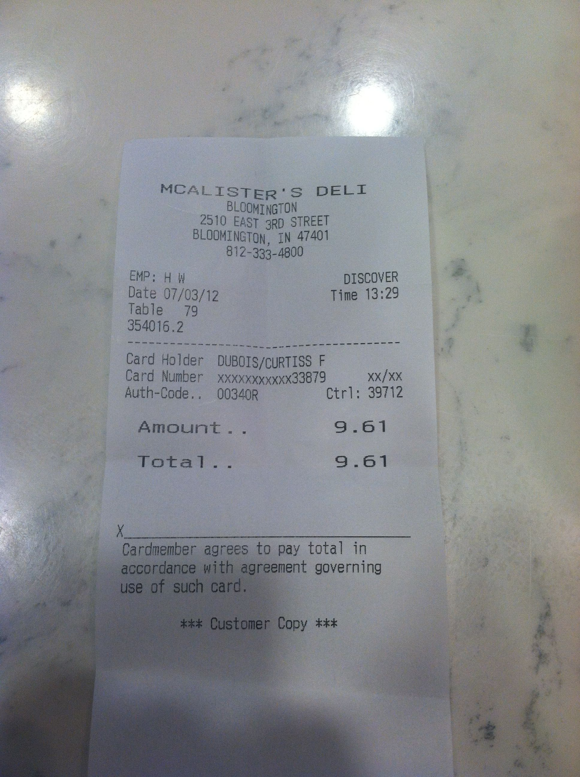 Dataveillance credit card receipt from mcalisters cd dataveillance credit card receipt from mcalisters cd reheart Images