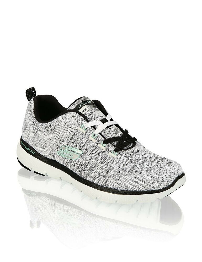 Skechers Air Cooled Memory Foam Knit Gray Mint Women's