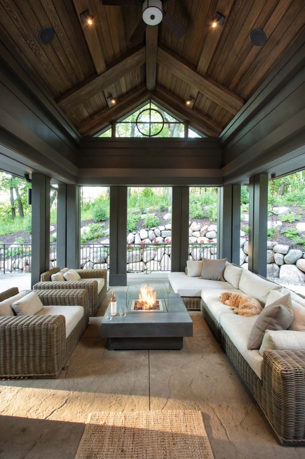 coastal back screenedin cost plans porch with for in fireplace perfect free large ideas screened ventless