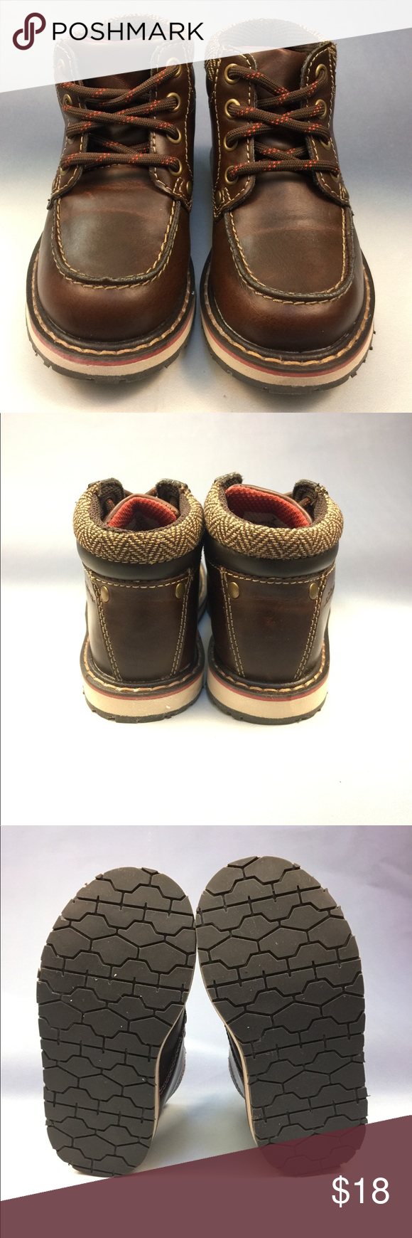 7f52faa5c Eddie Bauer Baby Boy Toddlers Size 7 These Pre-Owned Size 7 Eddie Bauer  Toddlers leather conditioned and sanitized to protect your Baby Boy's  little feet.