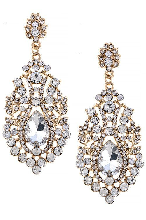 Sparkly Ab Crystal Diamante Rhinestone Bridal Prom Stud Earrings