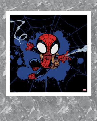 Spider Man Chibi Spider Man Web Swinging Poster Zazzle Com Spiderman Spiderman Drawing Spiderman Cute