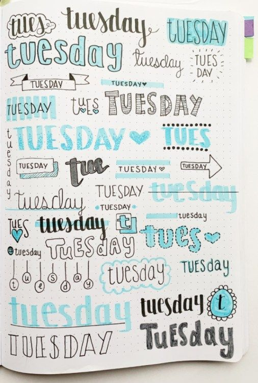 Bullet Journal Weekly Headers For You To Copy #journaling
