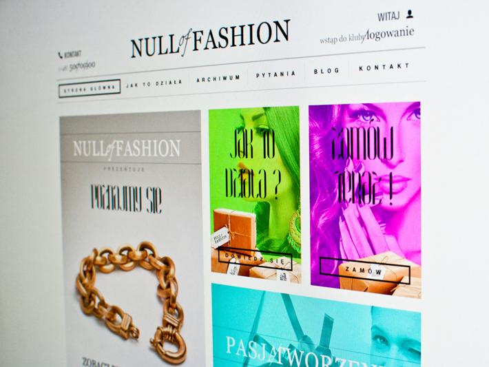 NULL of FASHION by Michal Galubinski, via Behance