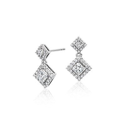 Blue Nile Diamond Bow Earrings in 14k White Gold (1/4 ct. tw.) F1lMi