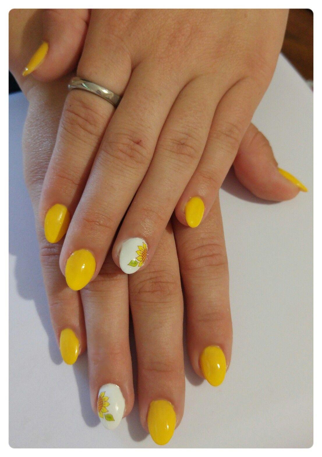Giallo (sun island) bianco girasole Sole, Convenience Store, Nail Art