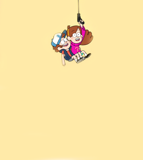 Mabel Using Her Grappling Hook To Save Her And Dipper Fall Wallpaper Gravity Falls Dipper And Mabel