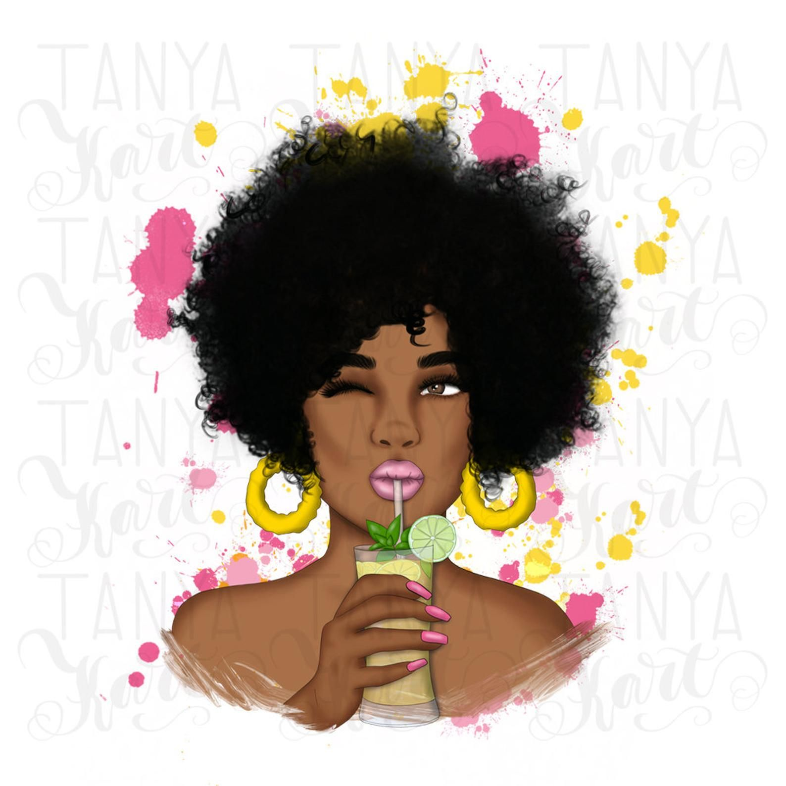 Sublimation Png Afro Woman Sublimation Designs Digital Etsy In 2021 Afro Women African Image Afro Emoji