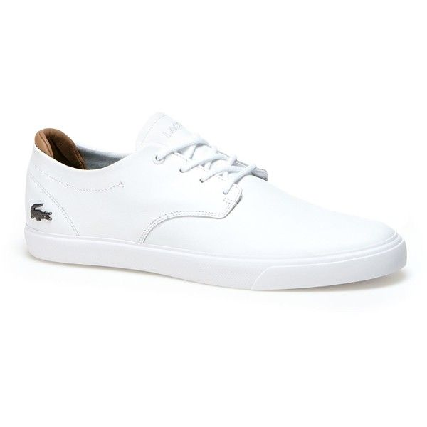 51c2cf637214e9 Lacoste Men s Espere Nappa Leather Trainers ( 90) ❤ liked on Polyvore  featuring men s fashion