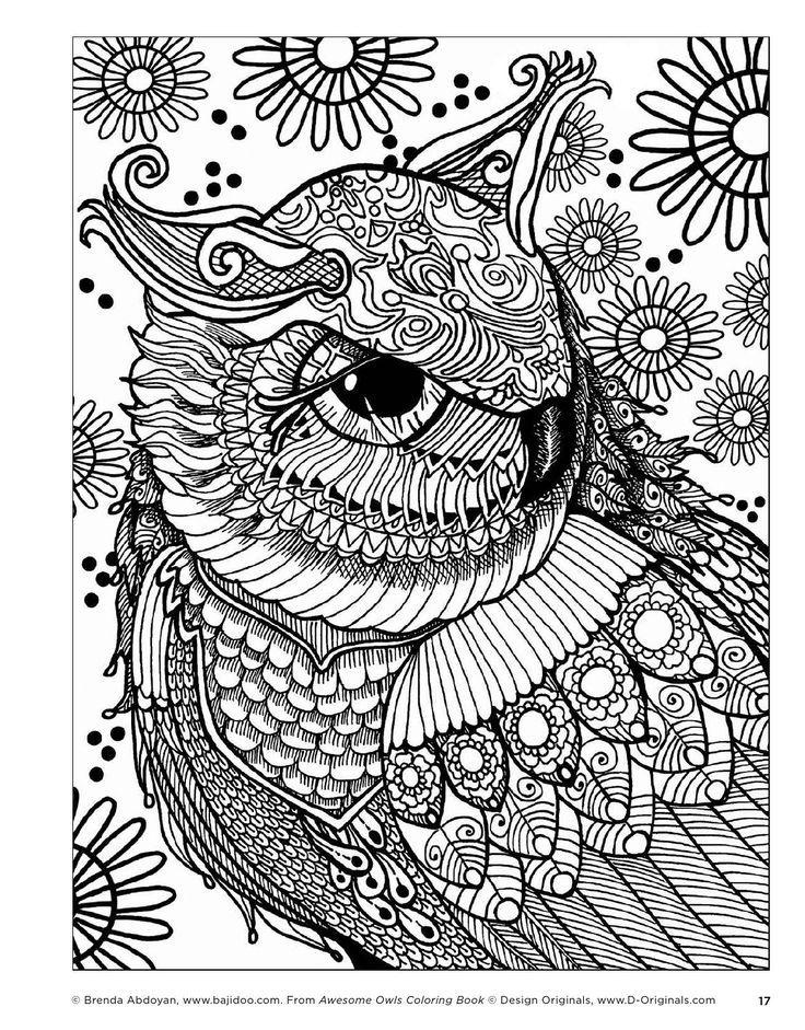 Resultado de imagen de owl adult coloring pages | buhos para pintar ...