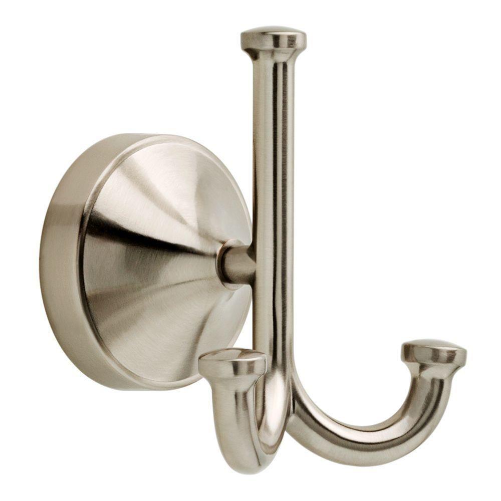 Delta Phoebe Triple Towel Hook In Brushed Nickel Fairesta Towel Hooks Bathroom Bathroom Hardware Brushed nickel robe hook