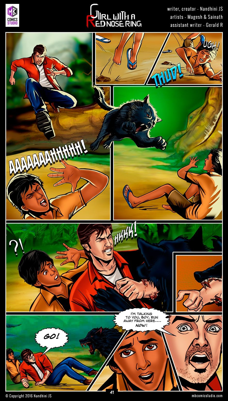 Page 41 - Nandhini's 'Girl with a Red Nose Ring' Comics  (read free