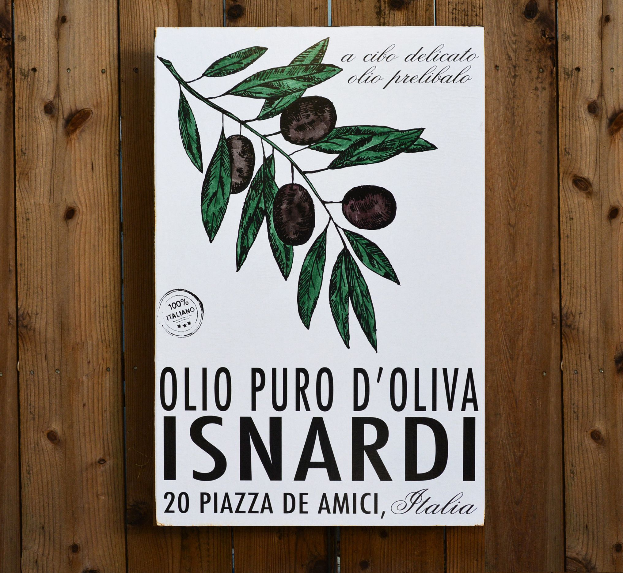 Olive oil vintage inspired italian culinary wall art vintage