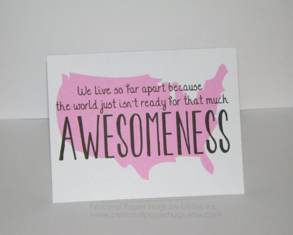 Funny Awesome Long Distance Relationship Friendship Card