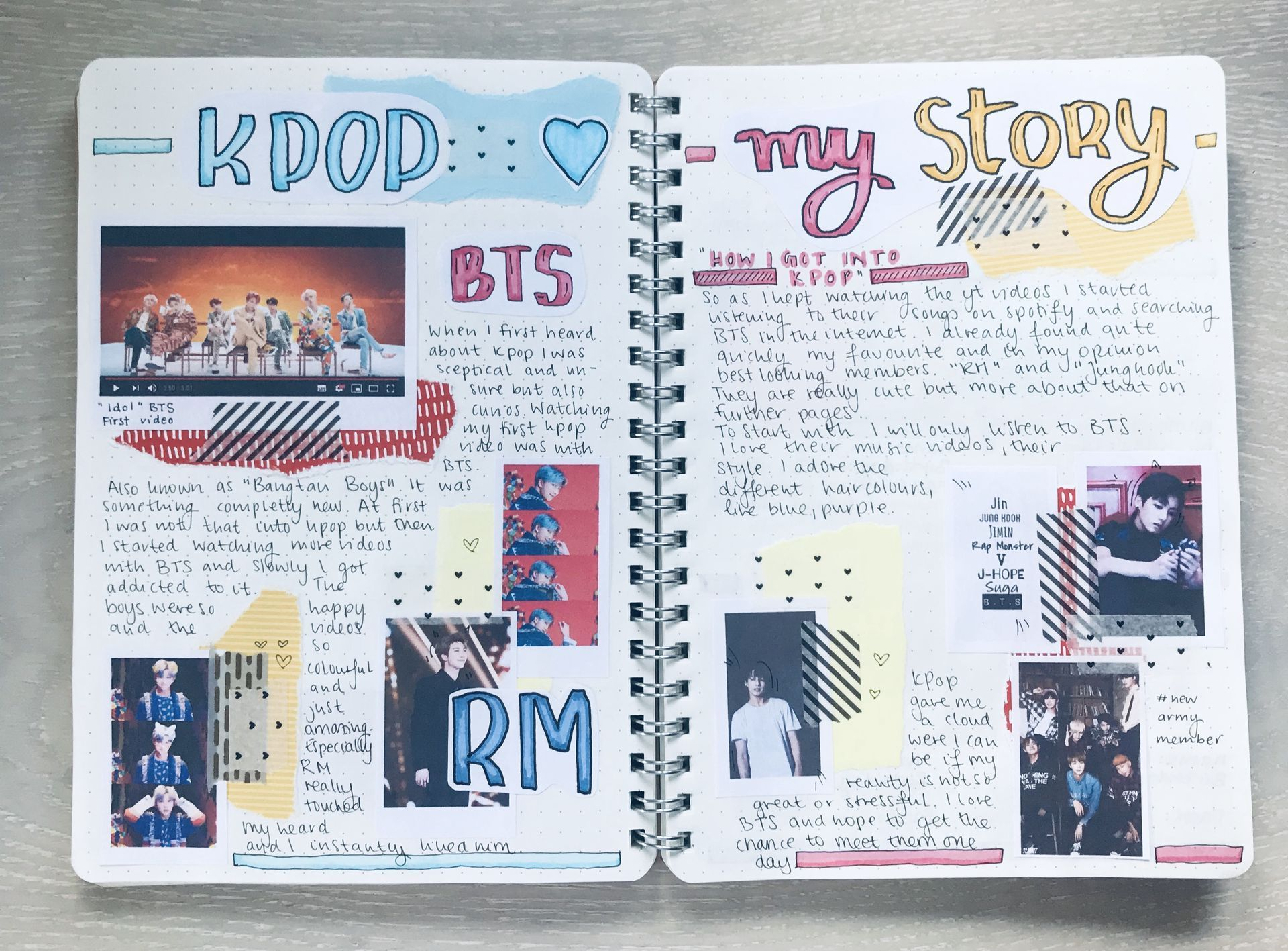 How To Kpop Journal First Page Bullet Journal Books Bullet Journal Aesthetic Bullet Journal First Page