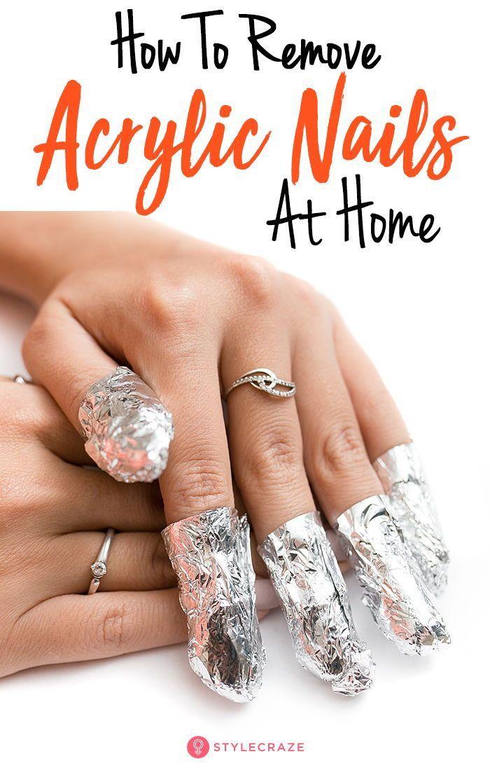Removing Acrylic Nails At Home