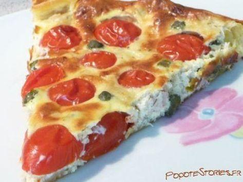 Tarte aux tomates cerise thon et boursin #entreesrecettes