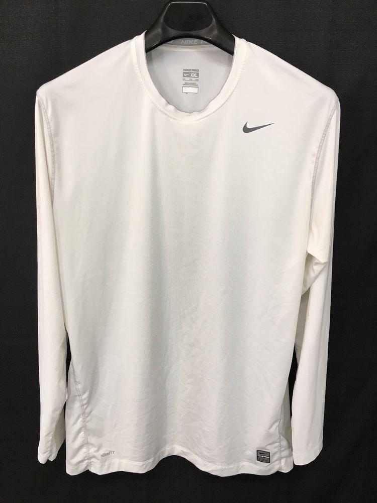 Mens 2xl xxl nike pro tshirt white comression athletic