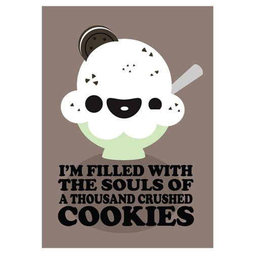 Cookies and Cream Wall Art at the Kawaii Not Shop. It's re