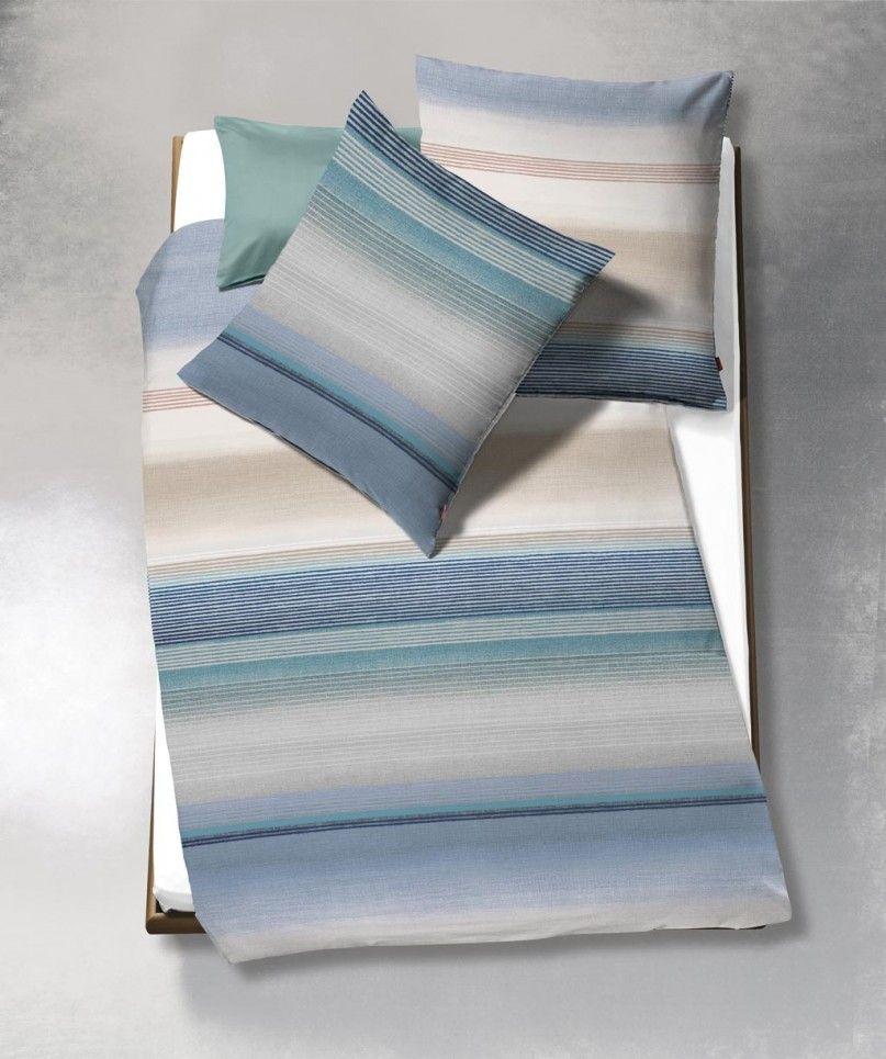 Blaue Streifenbettwäsche Von Fleuresse Modern Life In 135x200 Und