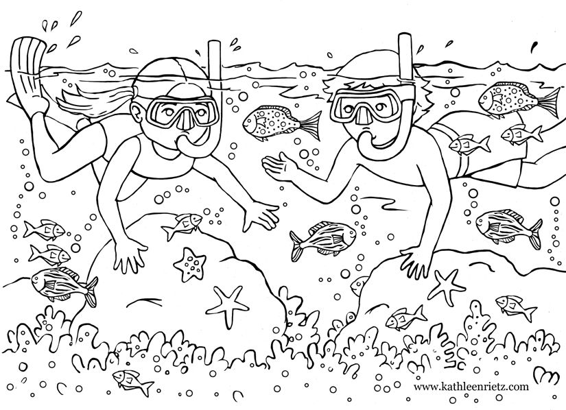 summer coloring pages to download and print for free - Free Summer Coloring Pages