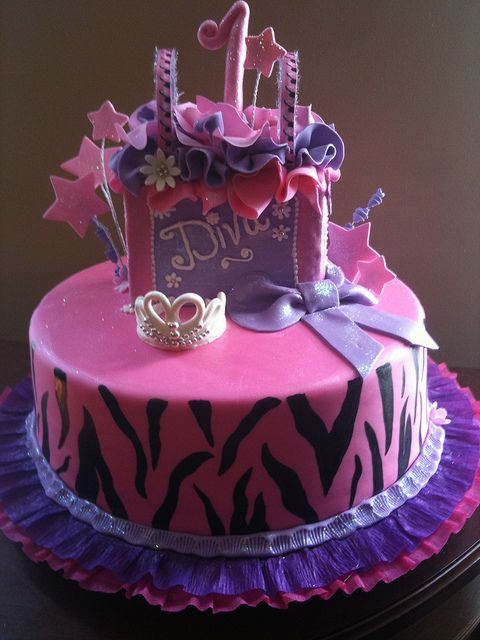 Shopping Little Diva 1st Birthday Cake By Funcakeandmore Via Flickr