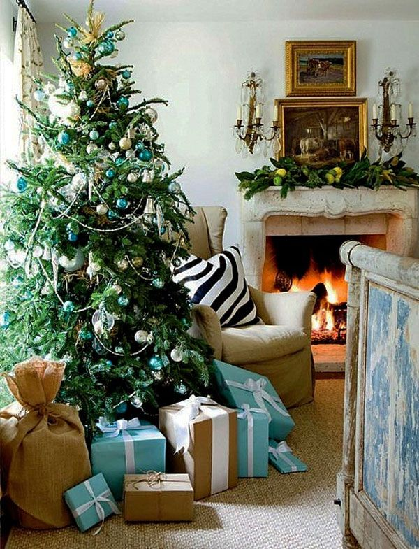 blue christmas decorating 30 Christmas Decorating Ideas To Get Your