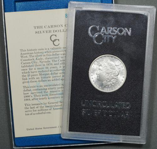 1880-CC Reverse of 1878 Morgan Silver Dollar, GSA Hoard. w/ Box & Cert