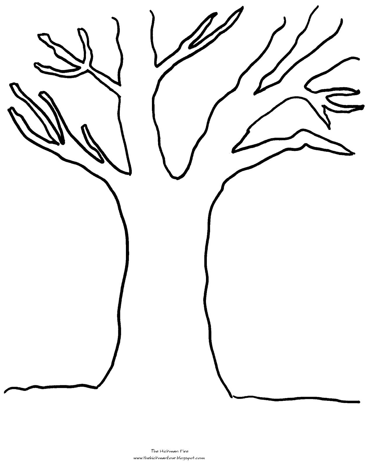Tree Coloring Pages With No Leaves 01 Tree Coloring Page