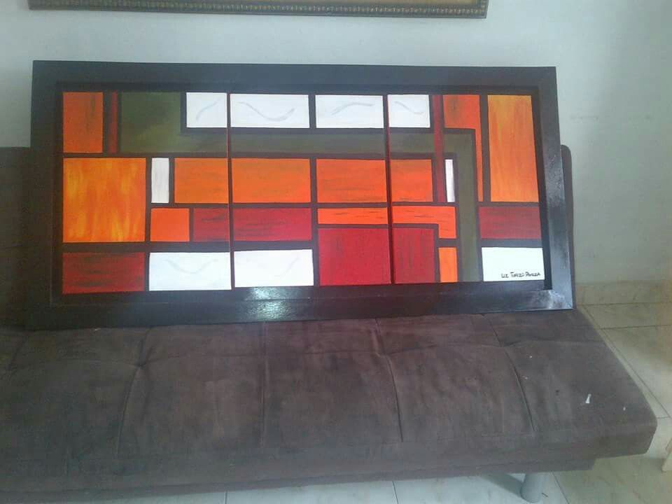 Pintura Abstracta geométrica.