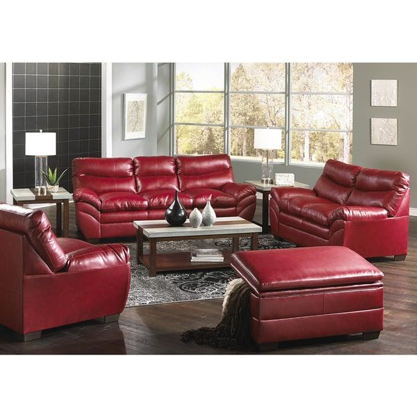 Simmons Upholstery Soho Cardinal Bonded Leather Sofa By Simmons Upholstery