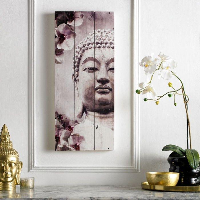 Buddha Print On Wood Wall Art Wood Wall Art Buddha Wall Art Pink Wall Art