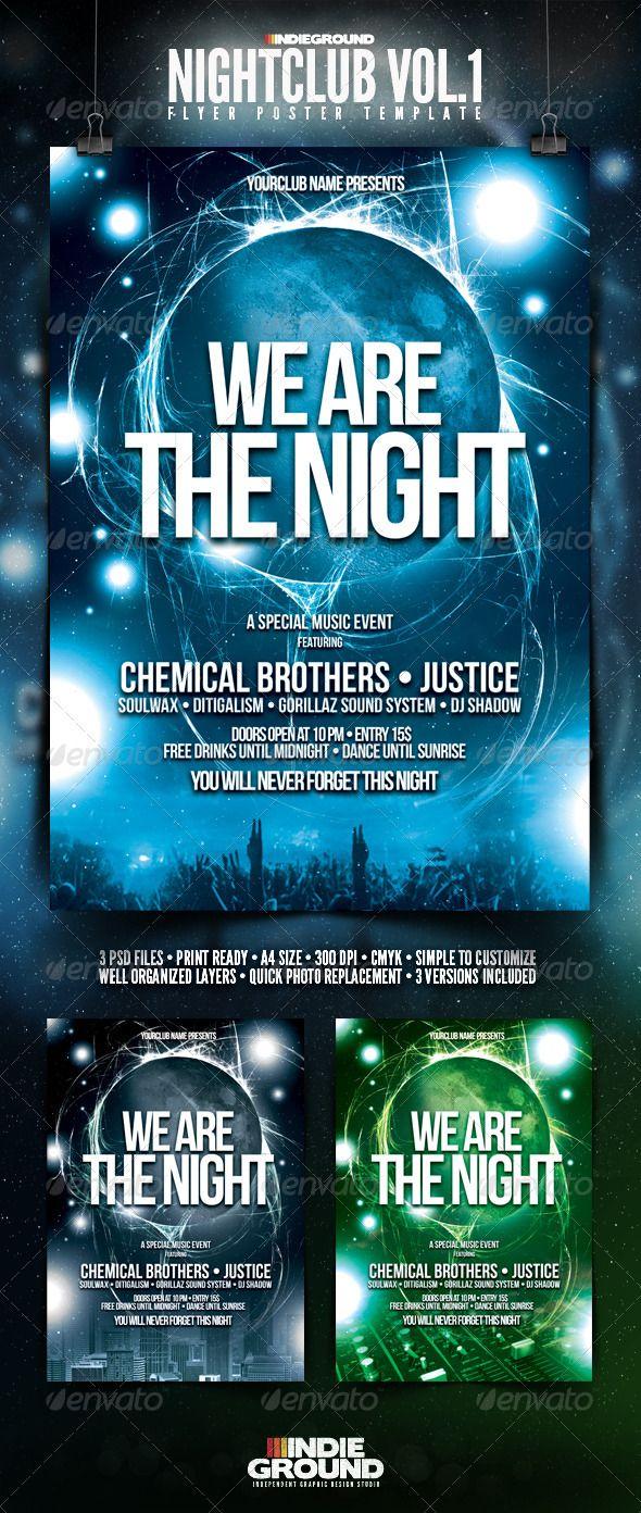 nightclub flyer poster clubs parties events aaii repair fund
