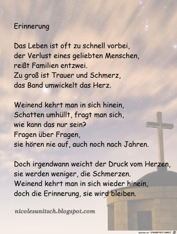 Erinnerung - Trauer - Gedicht von Nicole Sunitsch #Kerze
